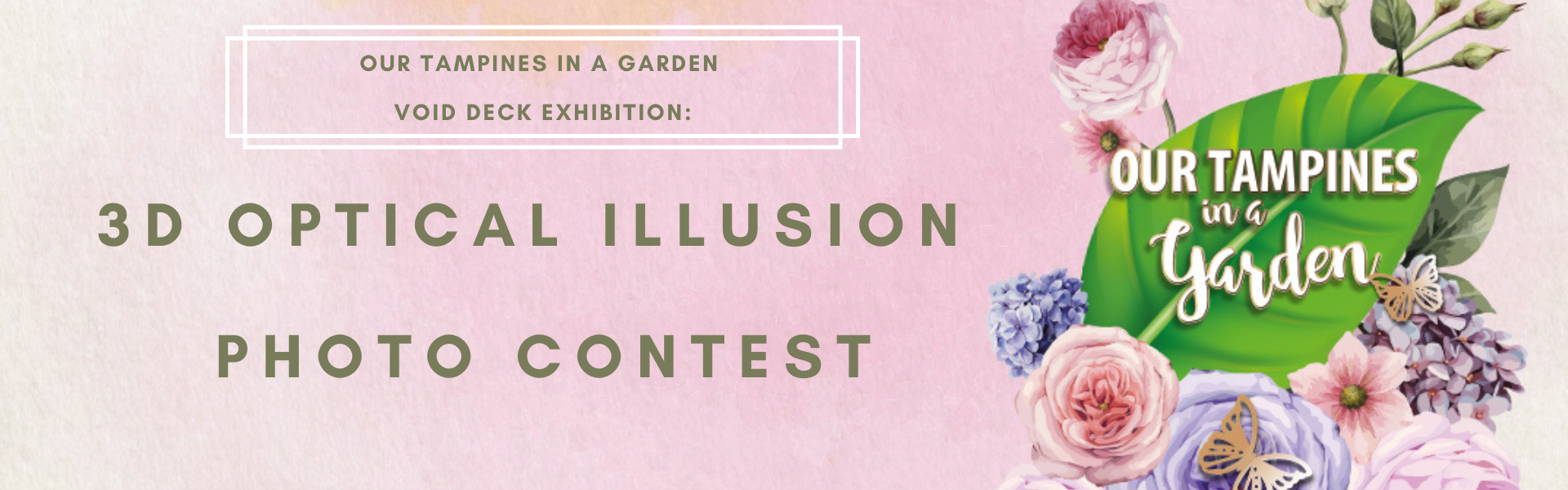 Our Tampines in a Garden: 3D Optical Illusion Photo Contest