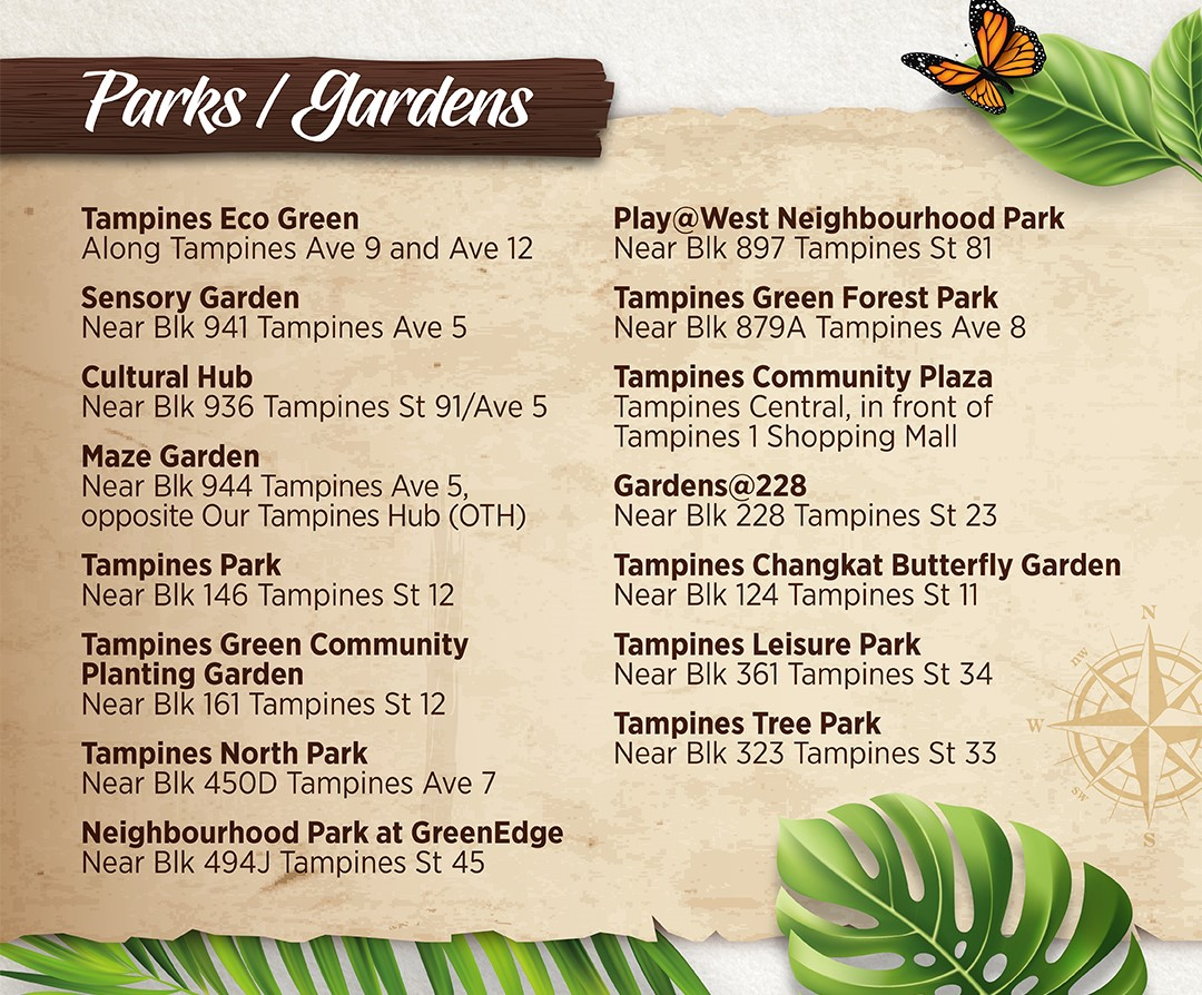 Parks and Gardens Location