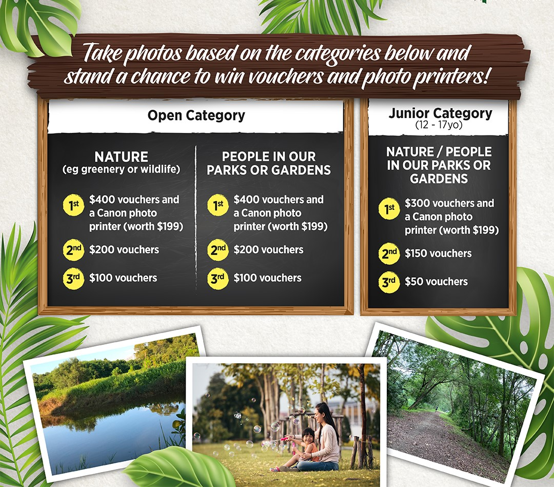 Take Photo based on the categories below and stand a chance to win vouchers and photo printers!